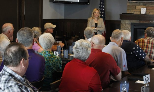 US Rep. Hinson talks about national issues with local voters